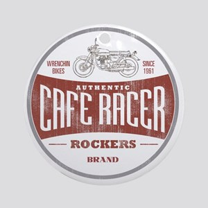 Vintage Cafe Racer Round Ornament
