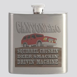 canyonero on black3-01 Flask
