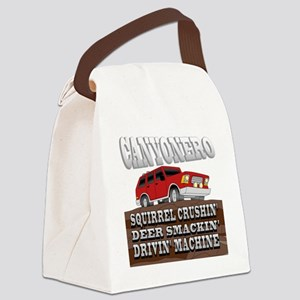 canyonero on black3-01 Canvas Lunch Bag