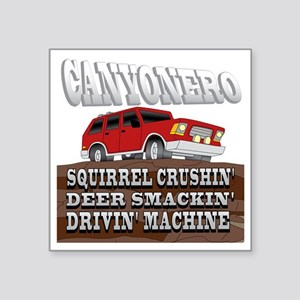 "canyonero on black3-01 Square Sticker 3"" x 3"""