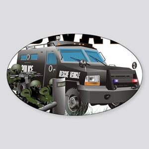 SWAT VEHICLE Sticker (Oval)