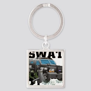 SWAT VEHICLE Square Keychain