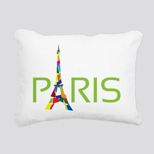 Paris Rectangular Canvas Pillow