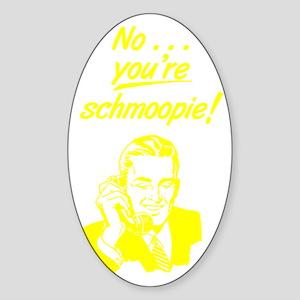 on_phone_schmoopie_yelo Sticker (Oval)