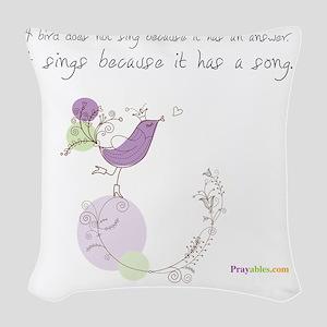 Bird Song Praywear Woven Throw Pillow