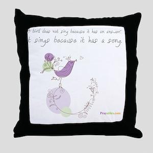 Bird Song Praywear Throw Pillow