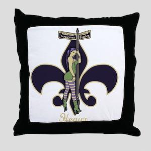 heaux-de-lis-DKT Throw Pillow