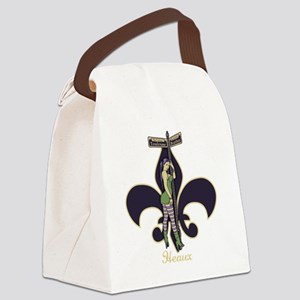 heaux-de-lis-DKT Canvas Lunch Bag