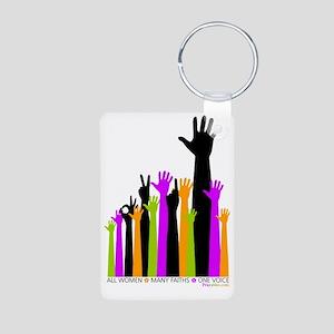 Hands Bright Praywear Aluminum Photo Keychain