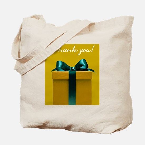 Thank you Christmas package note card gol Tote Bag
