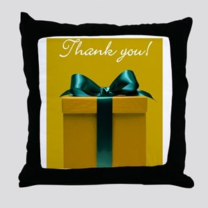 Thank you Christmas package note card Throw Pillow