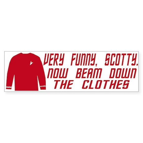 Red Shirt Society Sticker (Bumper)