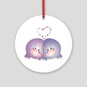 Hippo Love Ornament (Round)