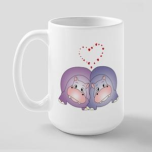 Hippo Love Large Mug