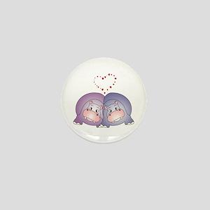 Hippo Love Mini Button