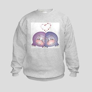 Hippo Love Kids Sweatshirt