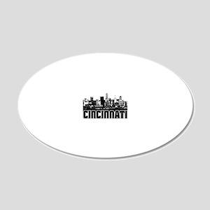 Cincinnati Skyline 20x12 Oval Wall Decal