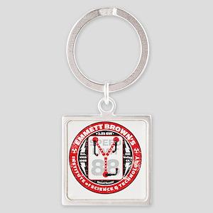 EmmettBrownInstitute Square Keychain