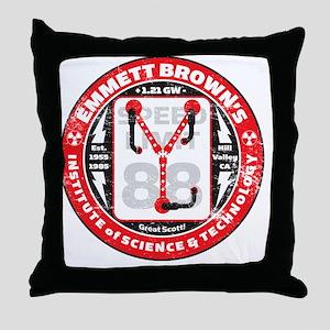 EmmettBrownInstitute Throw Pillow