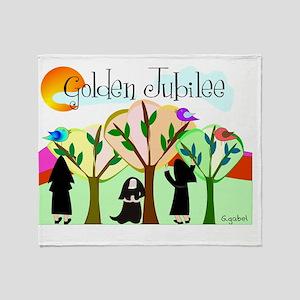 Golden Jubilee TREES SUN MOUNTAINS Throw Blanket