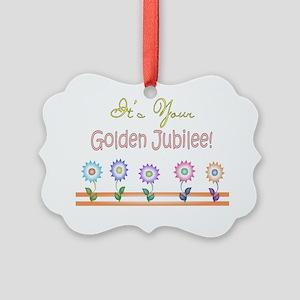 Golden Jubilee 5 flowers Picture Ornament
