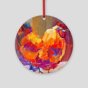 Mother Henn Round Ornament