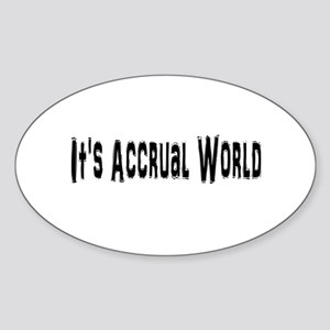 Accural World Sticker (Oval)