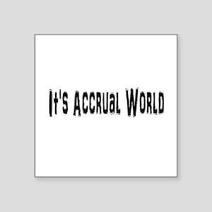 """Accural World Square Sticker 3"""" x 3"""""""