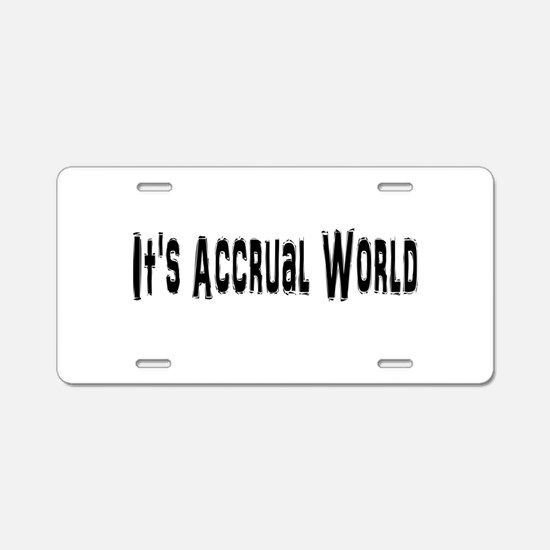 Accural World Aluminum License Plate
