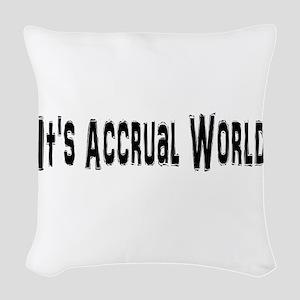 Accural World Woven Throw Pillow