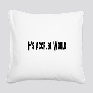 Accural World Square Canvas Pillow
