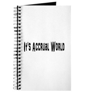 its accrual world lined notebook