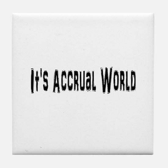 Accural World Tile Coaster