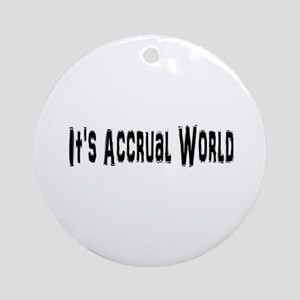Accural World Ornament (Round)