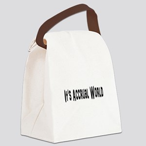 Accural World Canvas Lunch Bag