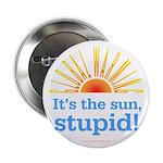 Global Warming Sun Button