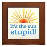 Global Warming Sun Framed Tile