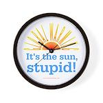 Global Warming Sun Wall Clock