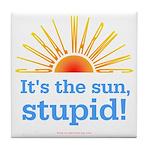 Global Warming Sun Tile Coaster