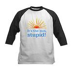 Global Warming Sun Kids Baseball Jersey
