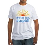 Global Warming Sun Fitted T-Shirt