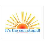 Global Warming Sun Small Poster