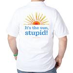 Global Warming Sun Golf Shirt