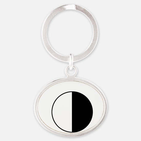cookie_white_letters Oval Keychain