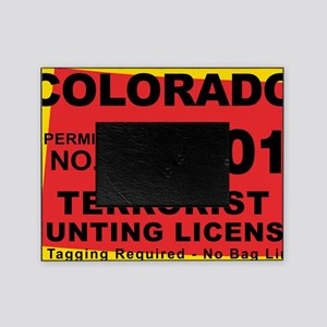 terrorist-hunting-license-XL-CO Picture Frame
