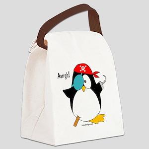 2-penguinpirateargh2000 Canvas Lunch Bag