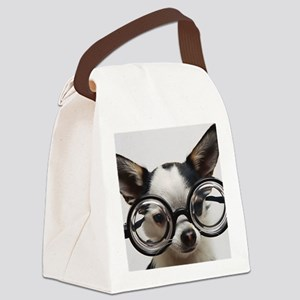 CHI Glasses L print Canvas Lunch Bag