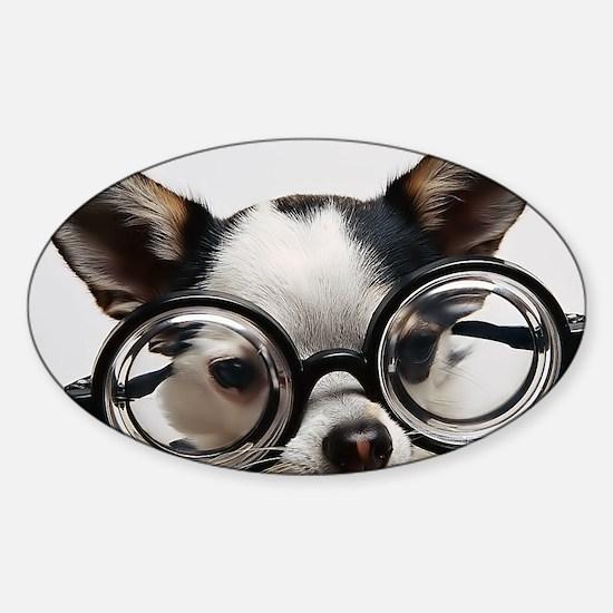 CHI Glasses L print Sticker (Oval)