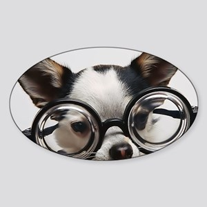 CHI Glasses panel print Sticker (Oval)