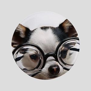 "CHI Glasses panel print 3.5"" Button"
